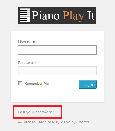 Learn To Play Piano By Chords Support